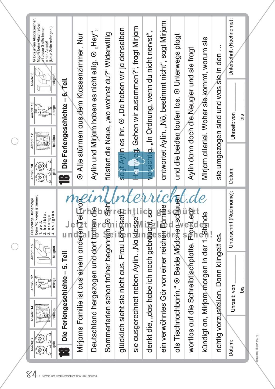 Die Feriengeschichte: Text und Bearbeitungsbogen Preview 2