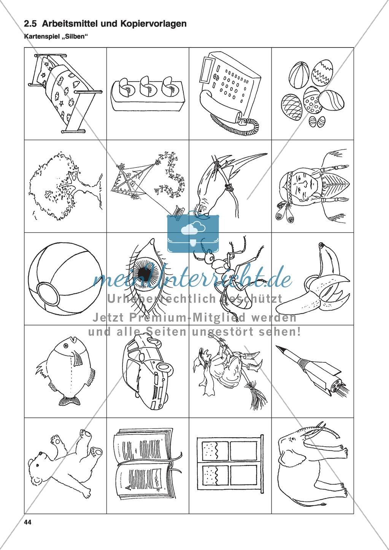 Aufgaben zur Silbe einschließlich Wortkonzept: Übungen, Spiele und Kopiervorlagen Preview 8