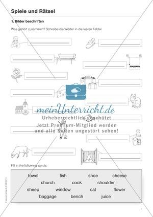 Arbeitsblätter für Englisch, Klasse 5 | meinUnterricht