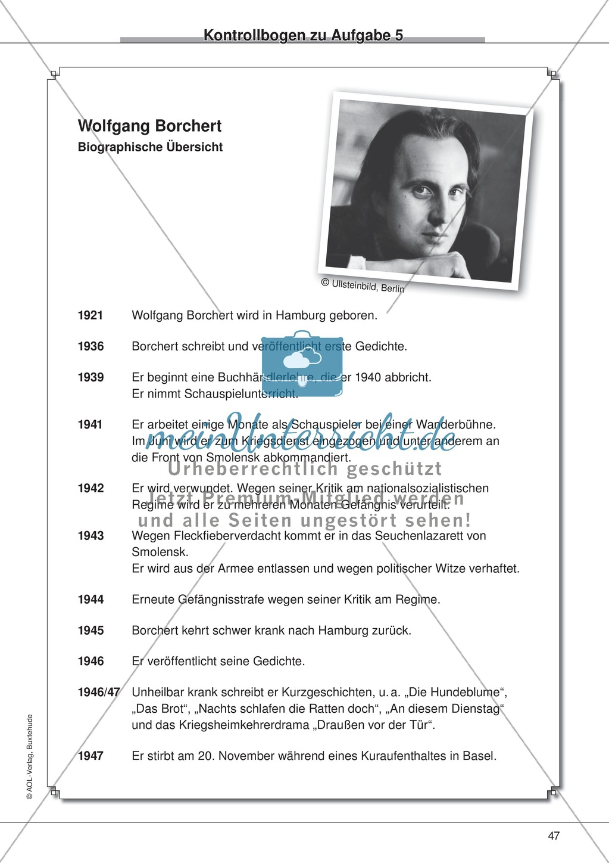 "Kurzgeschichten - Binnendifferenzung: ""Wolfgang Borchert: An diesem Dienstag"" - Einführung + Lesetext + Aufgaben Preview 14"