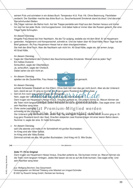 "Kurzgeschichten - Binnendifferenzung: ""Wolfgang Borchert: An diesem Dienstag"" - Einführung + Lesetext + Aufgaben Preview 6"