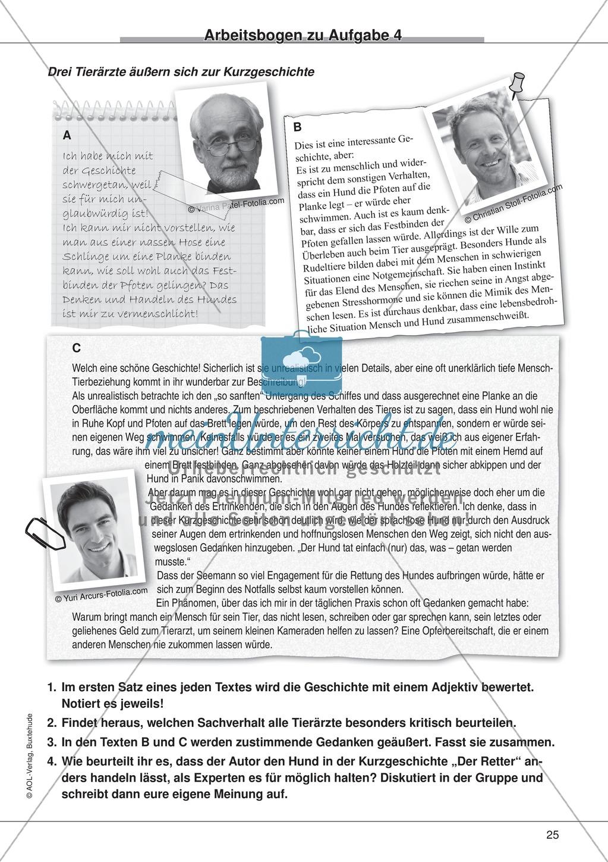 """Kurzgeschichten - Binnendifferenzung: """"William M. Harg: Der Retter"""" - Einführung + Lesetext + Aufgaben Preview 12"""