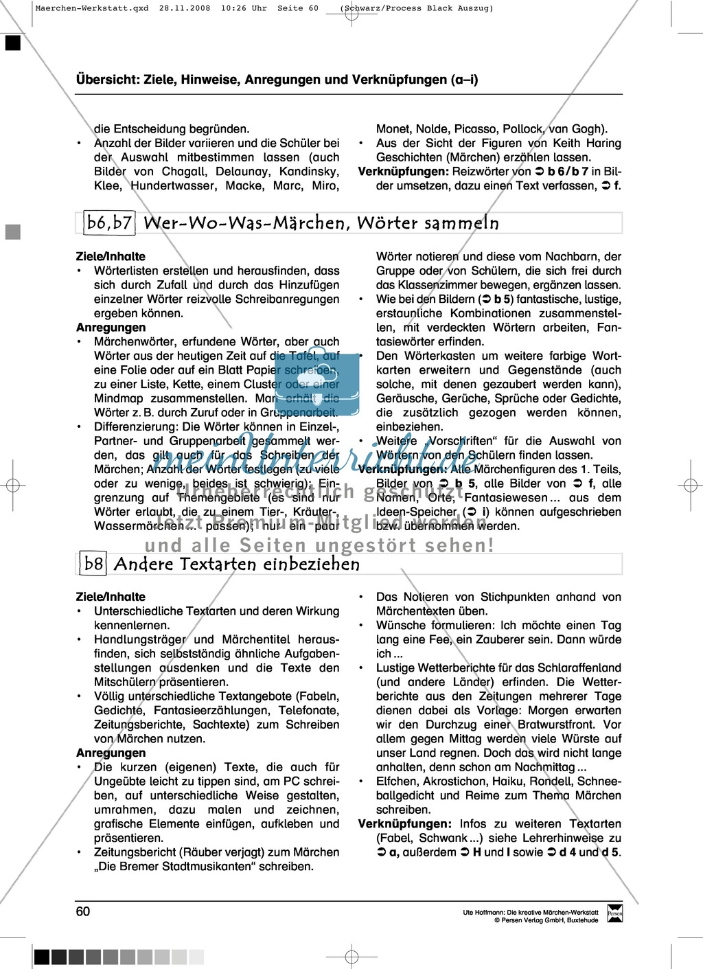 Märchenteile und Märchen selbst schreiben: Ziele und Anregungen, Arbeitsblätter Preview 2