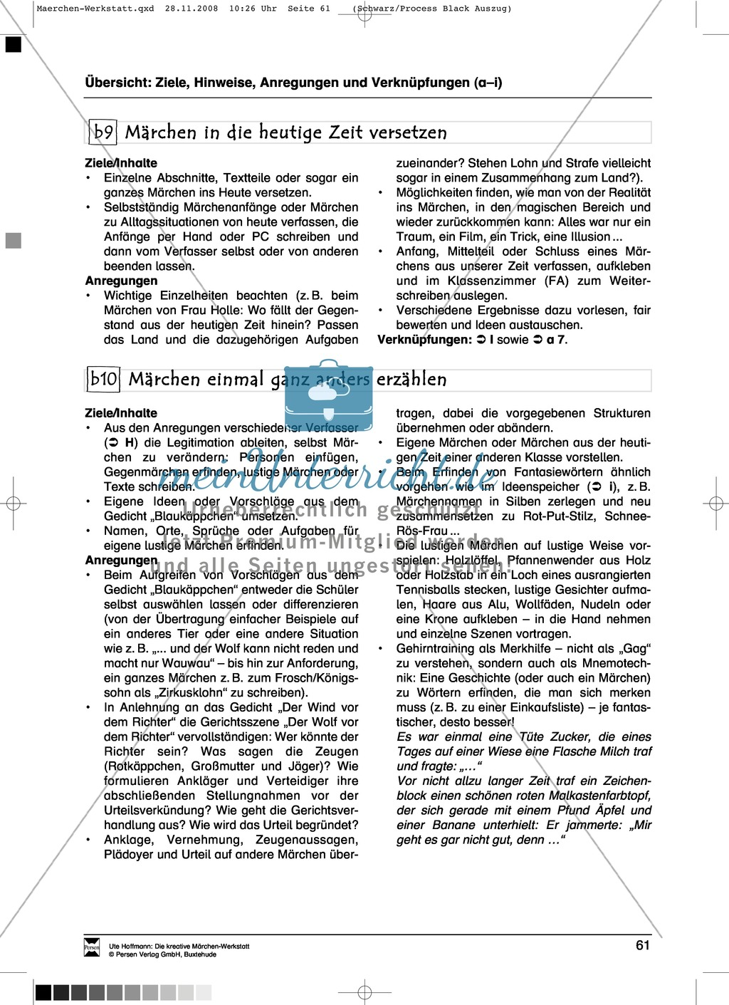 Märchenteile und Märchen selbst schreiben: Ziele und Anregungen, Arbeitsblätter Preview 3