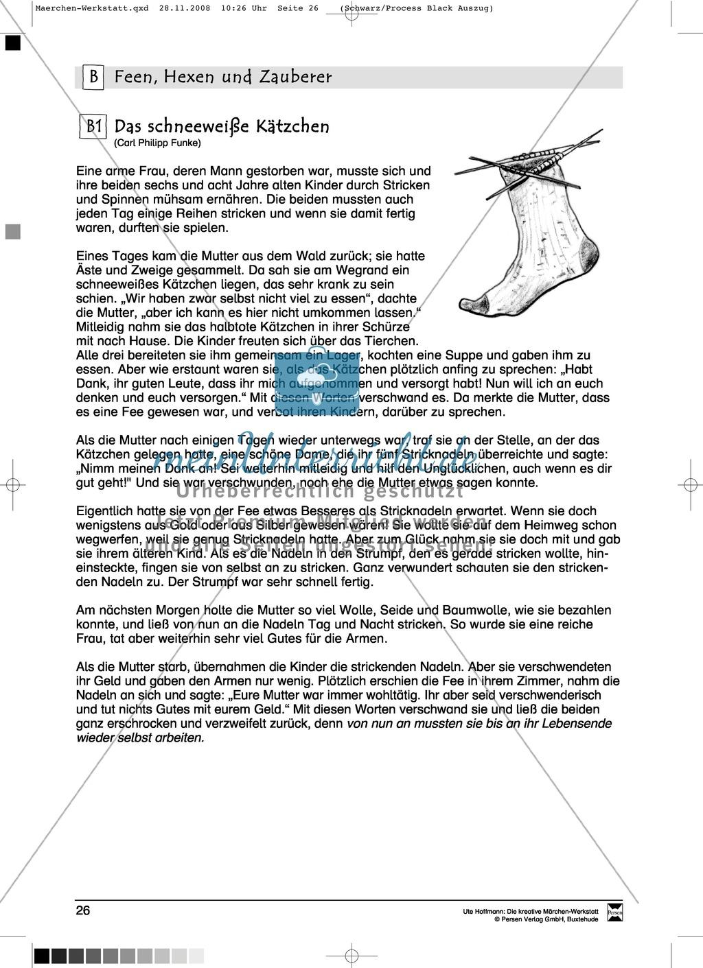 Feen, Hexen und Zauberer: Ziele und Anregungen, Lesetexte Preview 3