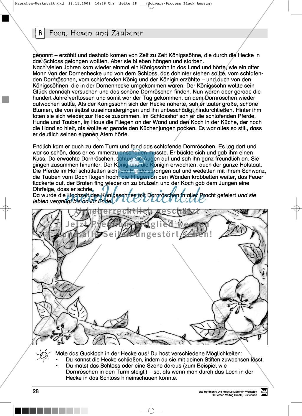 Feen, Hexen und Zauberer: Ziele und Anregungen, Lesetexte Preview 5