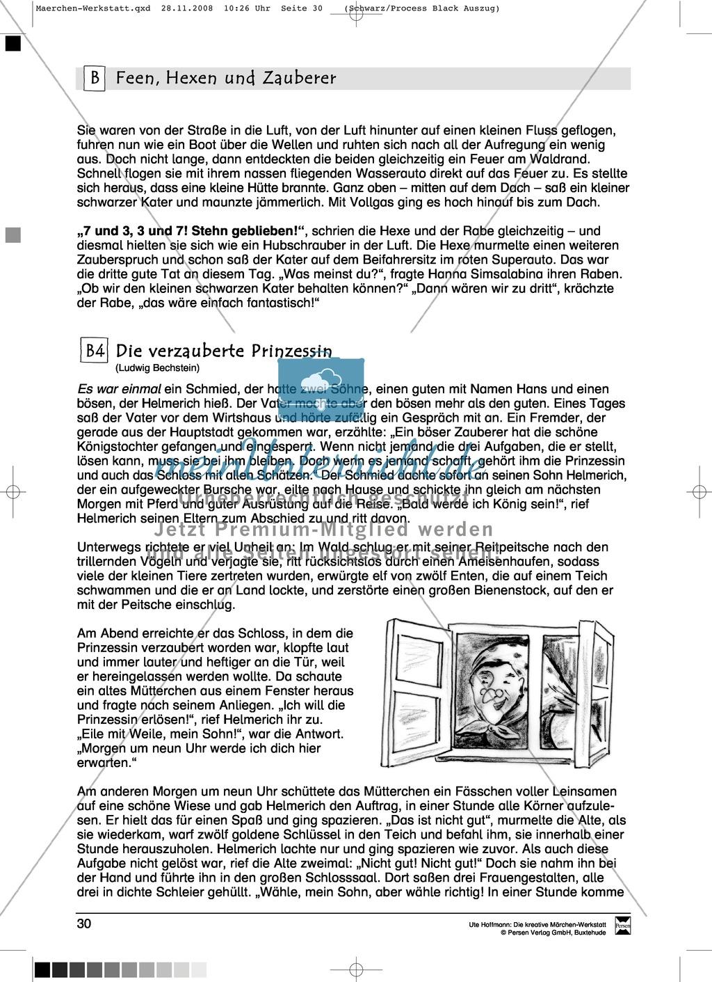 Feen, Hexen und Zauberer: Ziele und Anregungen, Lesetexte Preview 7