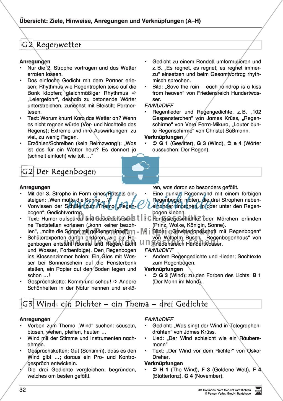 """Lyrische Texte - Gedichte lesen: """"Wetter - Cocktail"""" + Einführung Preview 3"""
