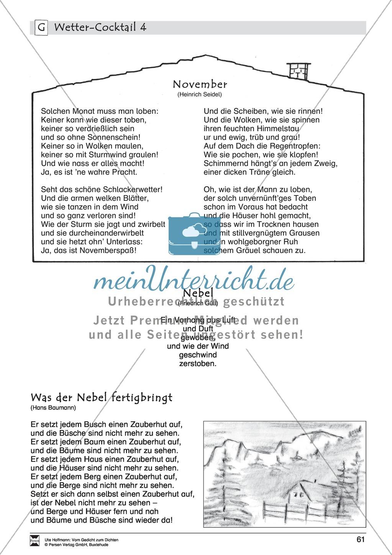 """Lyrische Texte - Gedichte lesen: """"Wetter - Cocktail"""" + Einführung Preview 9"""