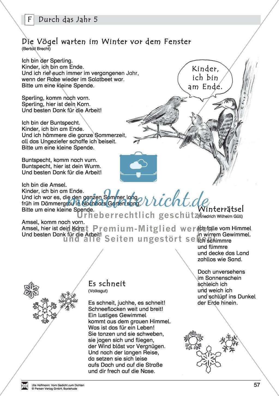 Lyrische Texte - Gedichte lesen: \