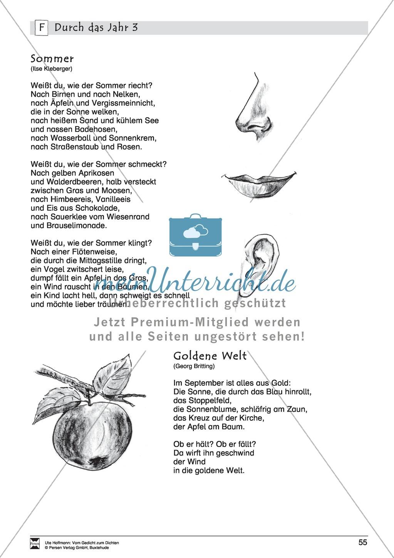 Lyrische Texte - Gedichte lesen: