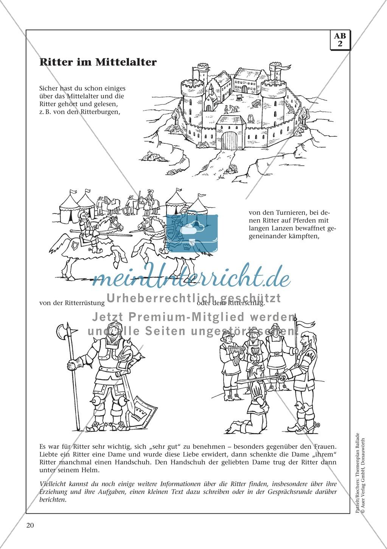 """Schillers """"Der Handschuh"""": Balladentext und Aufgaben Preview 2"""
