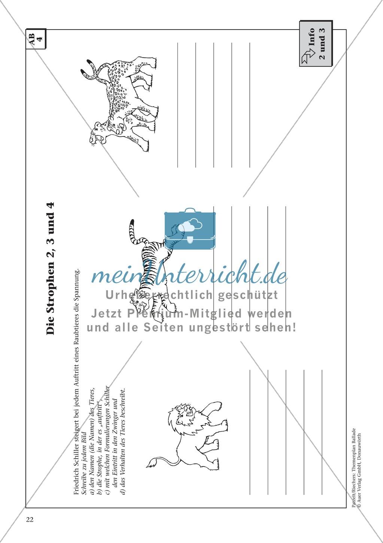 """Schillers """"Der Handschuh"""": Balladentext und Aufgaben Preview 4"""