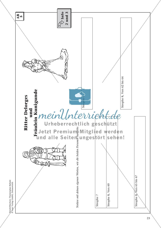 """Schillers """"Der Handschuh"""": Balladentext und Aufgaben Preview 5"""