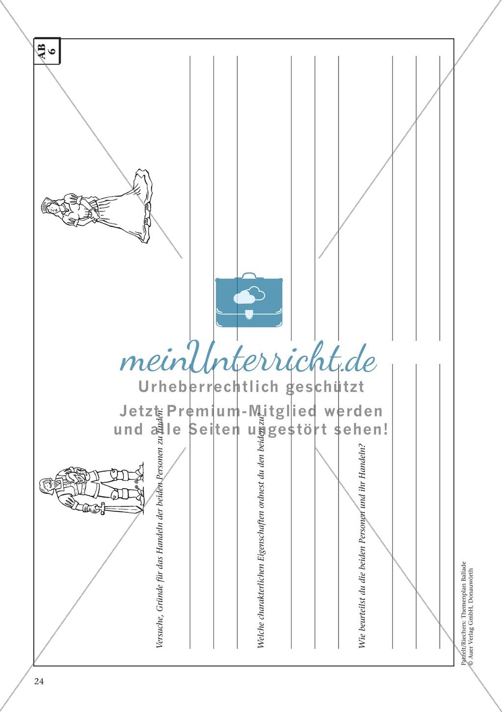 """Schillers """"Der Handschuh"""": Balladentext und Aufgaben Preview 6"""