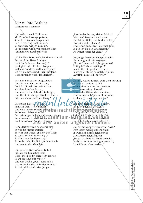 Balladen im Deutschunterricht: Themenplan inkl. Material (komplett) Preview 13