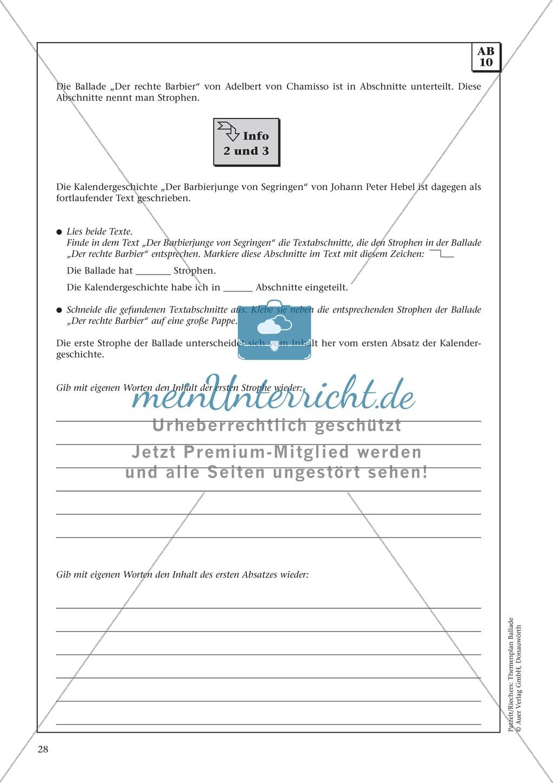 Balladen im Deutschunterricht: Themenplan inkl. Material (komplett) Preview 14