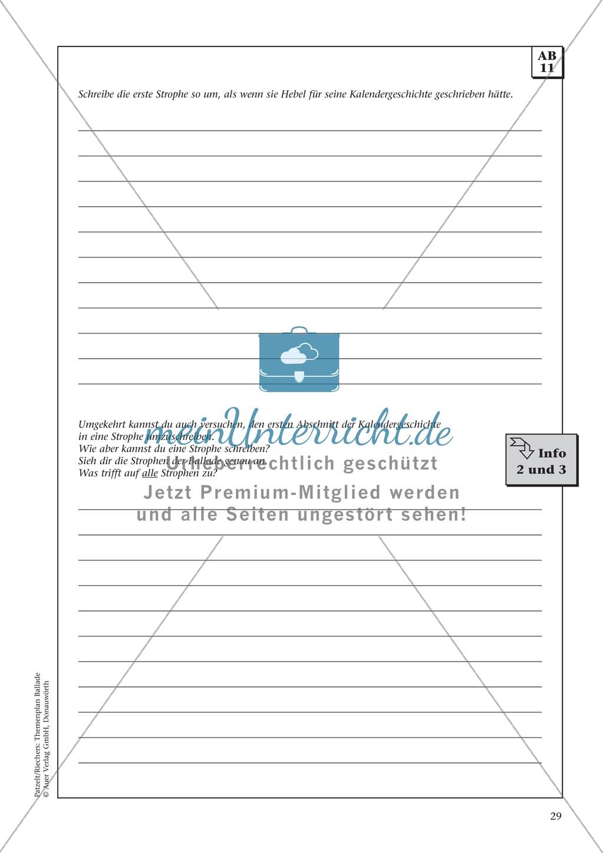 Balladen im Deutschunterricht: Themenplan inkl. Material (komplett) Preview 16