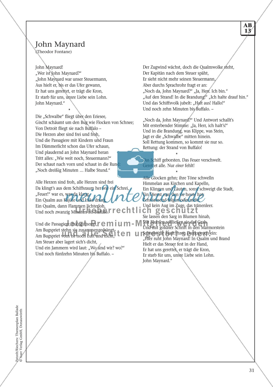 Balladen im Deutschunterricht: Themenplan inkl. Material (komplett) Preview 18