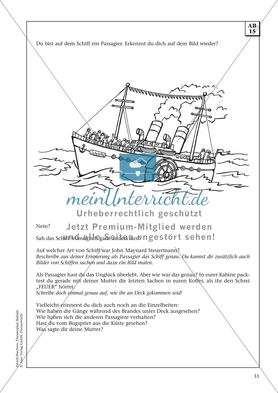 Balladen im Deutschunterricht: Themenplan inkl. Material (komplett) Preview 19