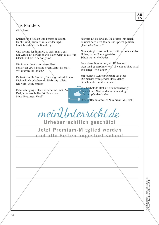 Balladen im Deutschunterricht: Themenplan inkl. Material (komplett) Preview 23