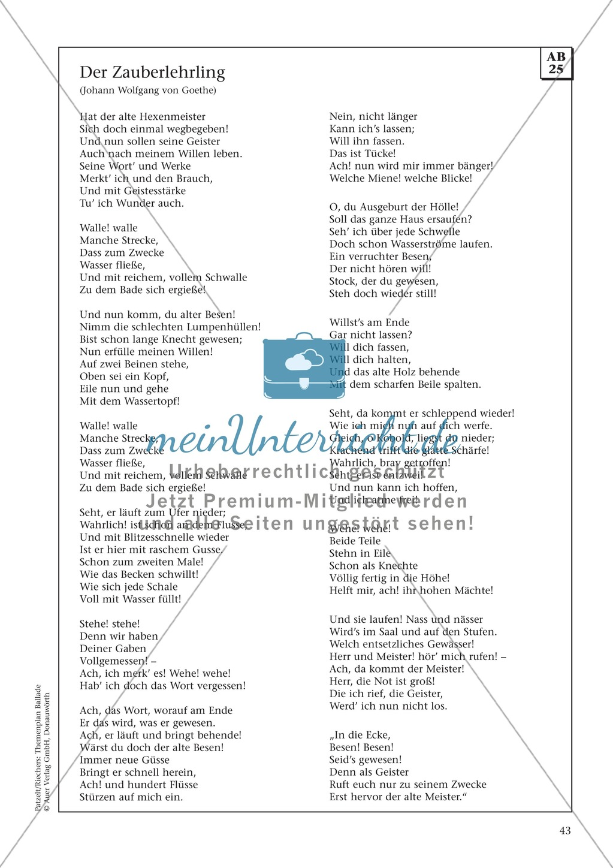 Balladen im Deutschunterricht: Themenplan inkl. Material (komplett) Preview 30