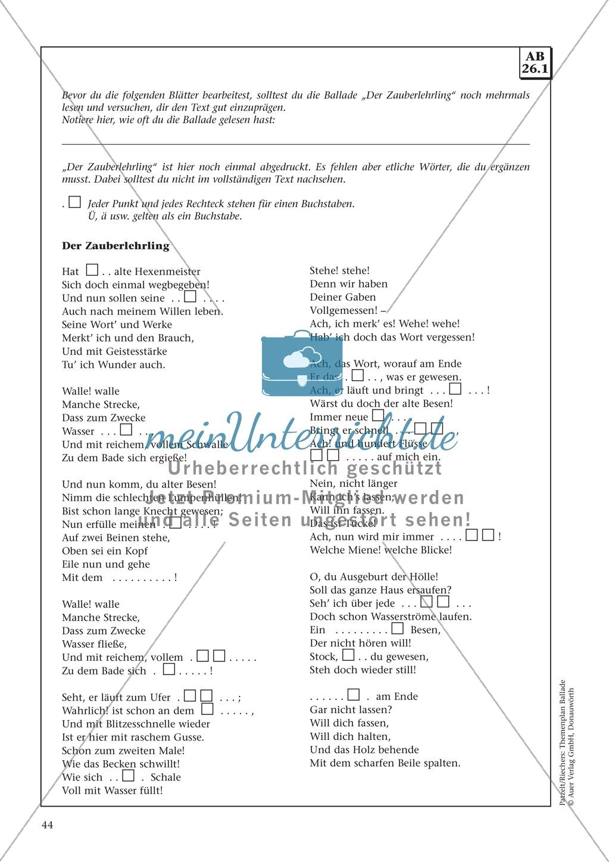 Balladen im Deutschunterricht: Themenplan inkl. Material (komplett) Preview 31