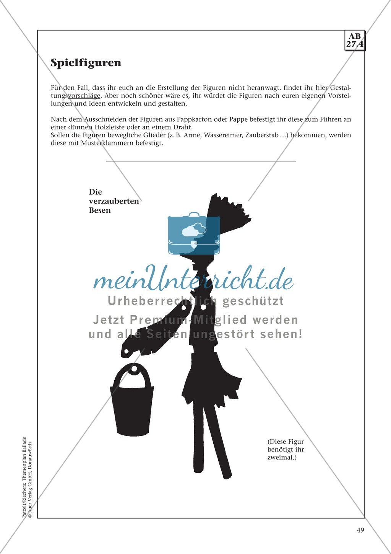 Balladen im Deutschunterricht: Themenplan inkl. Material (komplett) Preview 36