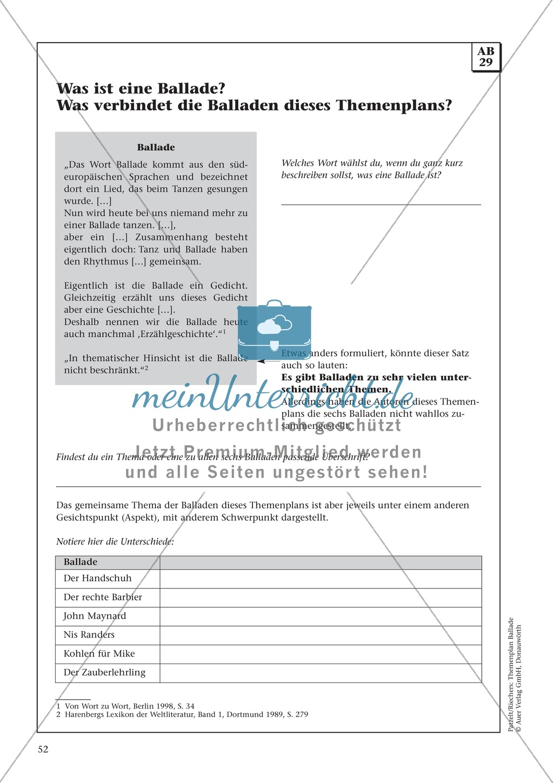 Balladen im Deutschunterricht: Themenplan inkl. Material (komplett) Preview 39