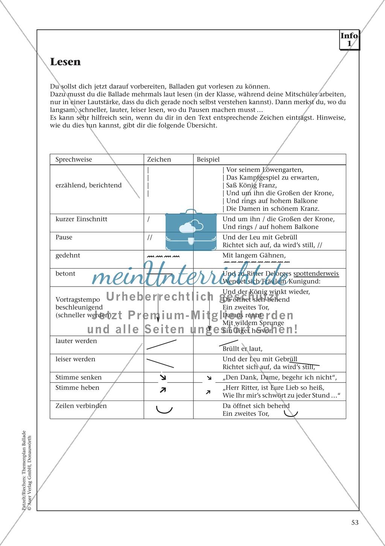Balladen im Deutschunterricht: Themenplan inkl. Material (komplett) Preview 40