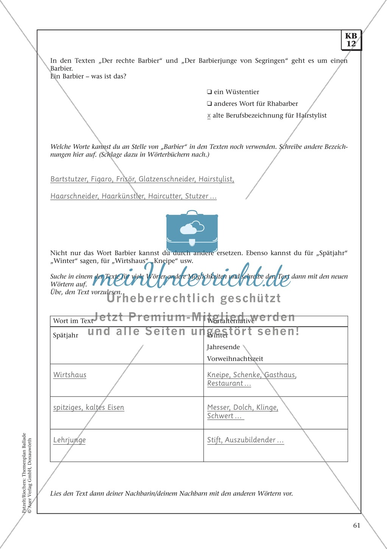 Balladen im Deutschunterricht: Themenplan inkl. Material (komplett) Preview 48