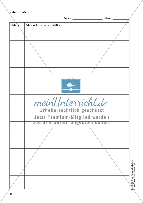 Balladen im Deutschunterricht: Themenplan inkl. Material (komplett) Preview 4