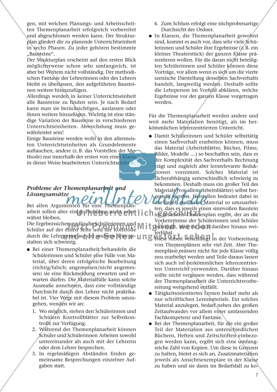 Offener Unterricht und Themenplanarbeit: fachdidaktischer Beitrag Preview 3
