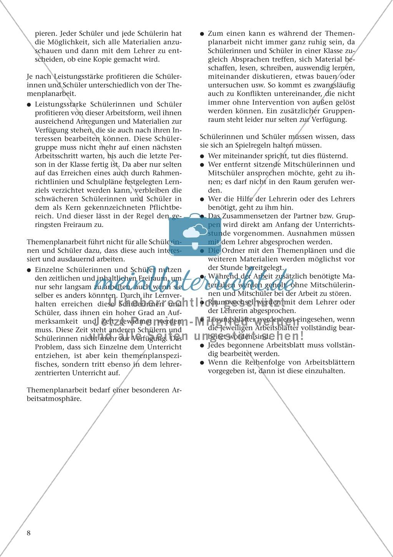 Offener Unterricht und Themenplanarbeit: fachdidaktischer Beitrag Preview 4