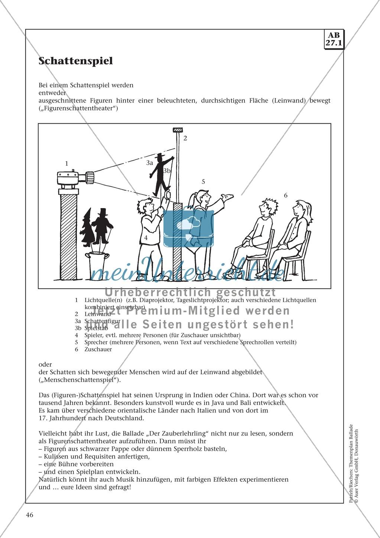 """Goethes """"Der Zauberlehrling"""": Balladentext und Aufgaben Preview 4"""