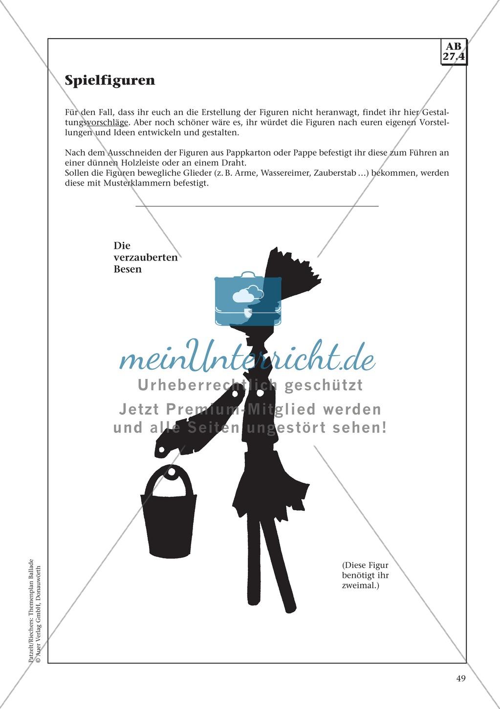 """Goethes """"Der Zauberlehrling"""": Balladentext und Aufgaben Preview 7"""