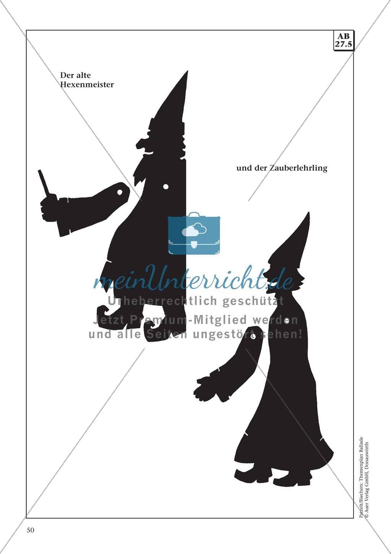 """Goethes """"Der Zauberlehrling"""": Balladentext und Aufgaben Preview 8"""