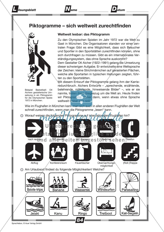 Piktogramme erkennen: Übungen + Lösungen Preview 1