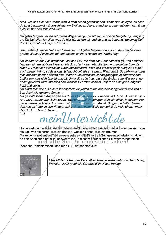 Möglichkeiten und Kriterien für die Erhebung schriftlicher Leistungen im Deutschunterricht: Weitere ausgewählte Schreibformen - Kreatives Schreiben Preview 10