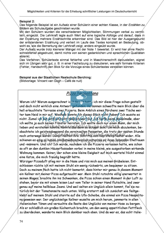 Möglichkeiten und Kriterien für die Erhebung schriftlicher Leistungen im Deutschunterricht: Weitere ausgewählte Schreibformen - Kreatives Schreiben Preview 17