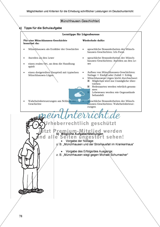 Möglichkeiten und Kriterien für die Erhebung schriftlicher Leistungen im Deutschunterricht: Weitere ausgewählte Schreibformen - Kreatives Schreiben Preview 21