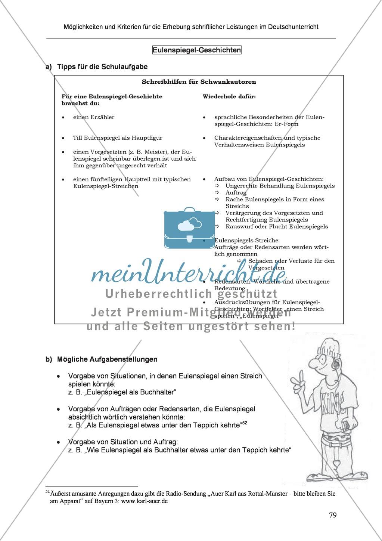 Möglichkeiten und Kriterien für die Erhebung schriftlicher Leistungen im Deutschunterricht: Weitere ausgewählte Schreibformen - Kreatives Schreiben Preview 22