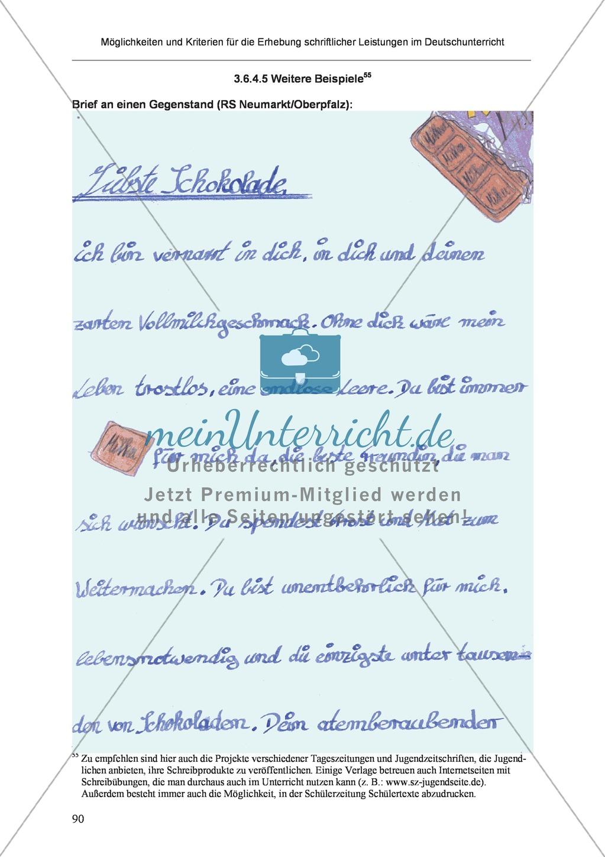 Möglichkeiten und Kriterien für die Erhebung schriftlicher Leistungen im Deutschunterricht: Weitere ausgewählte Schreibformen - Kreatives Schreiben Preview 33
