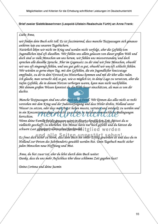Möglichkeiten und Kriterien für die Erhebung schriftlicher Leistungen im Deutschunterricht: Weitere ausgewählte Schreibformen - Kreatives Schreiben Preview 36