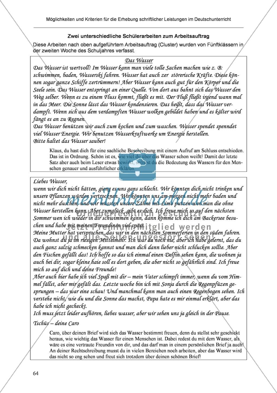 Möglichkeiten und Kriterien für die Erhebung schriftlicher Leistungen im Deutschunterricht: Weitere ausgewählte Schreibformen - Kreatives Schreiben Preview 7