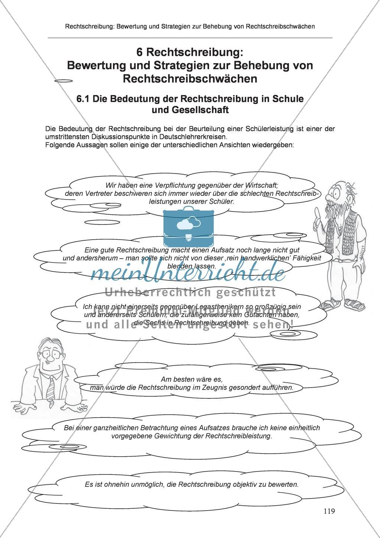 Rechtschreibung: Die Bedeutung der Rechtschreibung in Schule und Gesellschaft Preview 0