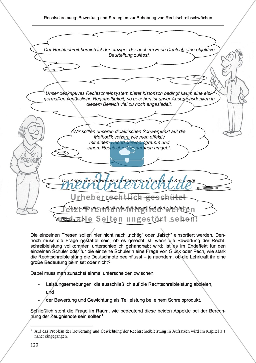 Rechtschreibung: Die Bedeutung der Rechtschreibung in Schule und Gesellschaft Preview 1