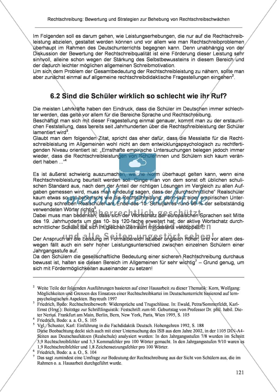 Rechtschreibung: Die Bedeutung der Rechtschreibung in Schule und Gesellschaft Preview 2