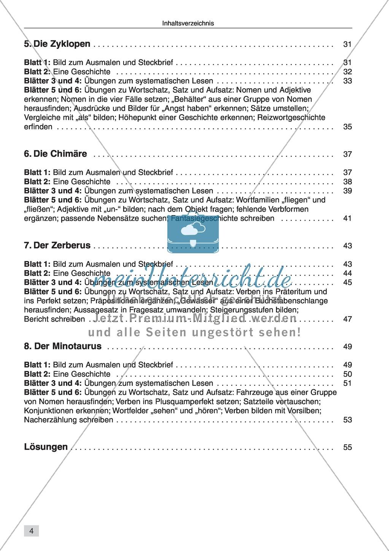 Vom systematischen Lesen zum selbstständigen Schreiben: Texte von Fabelwesen Preview 1