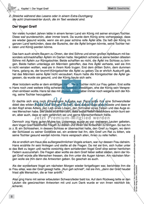 Vom systematischen Lesen zum selbstständigen Schreiben: Texte von Fabelwesen Preview 5
